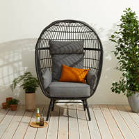 Wehkamp Home egg chair, Zwart/grijs