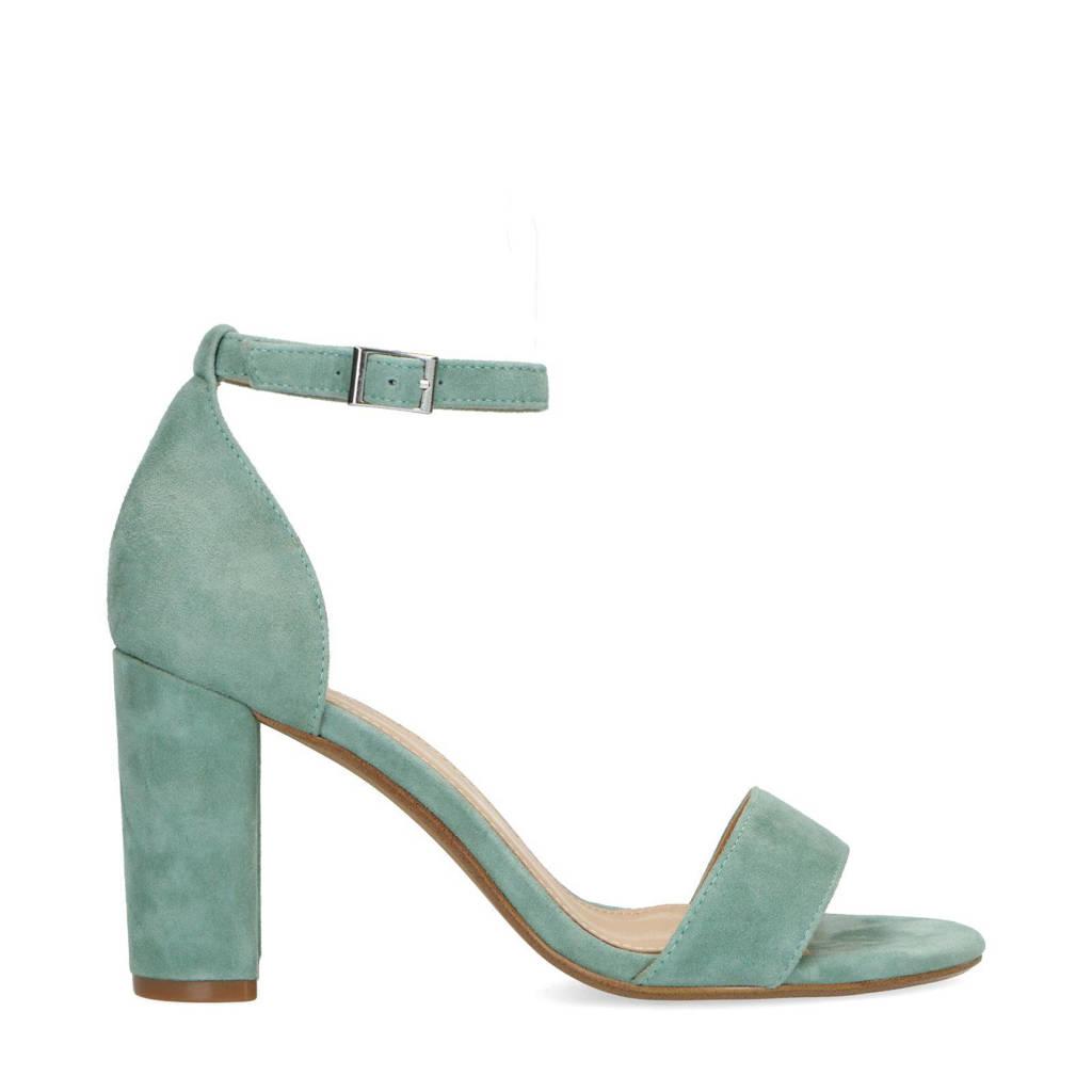 Manfield   suède sandalettes turquoise, Turquoise