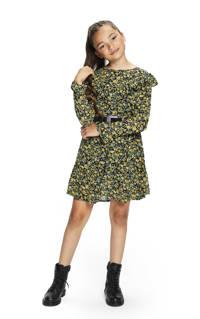 Retour Denim gebloemde jurk Josi groen/zwart/geel, Groen/zwart/geel
