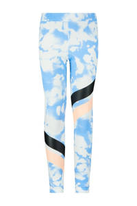 Retour Denim slim fit broek Nanette met all over print lichtblauw/wit, Lichtblauw/wit