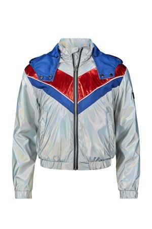 zomerjas Lana zilver/blauw/rood