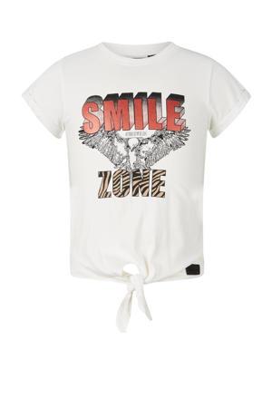 T-shirt Ilse van biologisch katoen off white