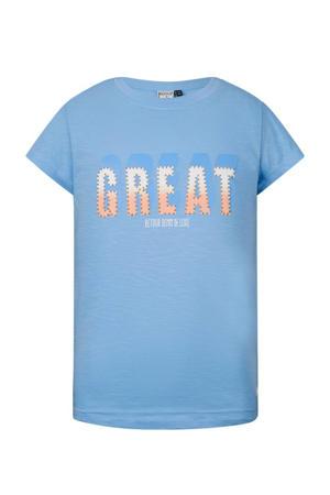 T-shirt Victoria van biologisch katoen lichtblauw