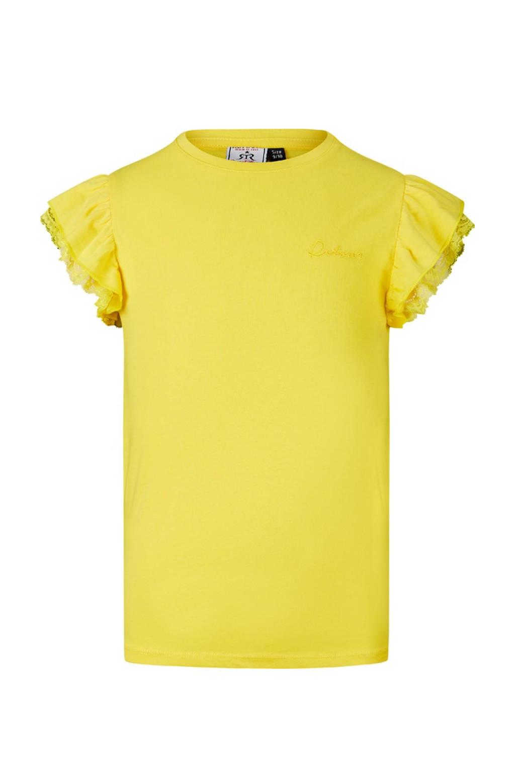 Retour Denim top Hanna met kant geel, Geel