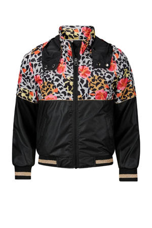 zomerjas Becky met dierenprint zwart/rood/wit
