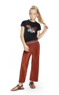 Retour Denim T-shirt Isabella van biologisch katoen zwart, Zwart