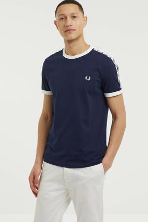 T-shirt Ringer donkerblauw
