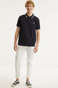 Fred Perry regular fit polo donkerblauw/wit, Donkerblauw/wit