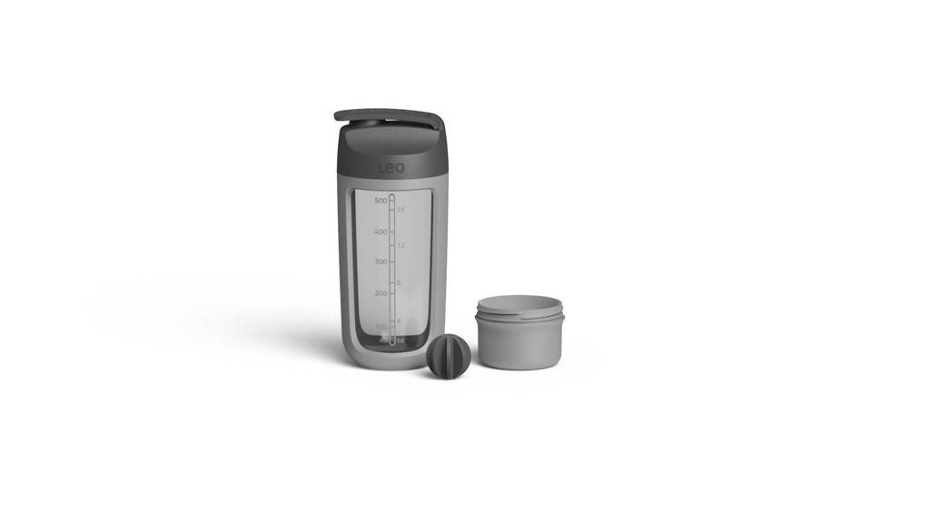 BergHOFF LEO line schudfles met poedercompartiment  (0,5L), Grijs