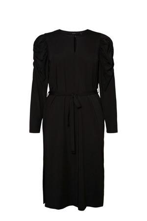 jurk Paria met open detail zwart
