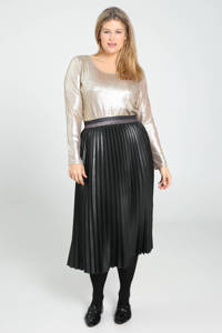 Paprika top met glitters champagne, Champagne