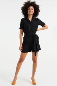 WE Fashion jumpsuit black uni, Black Uni
