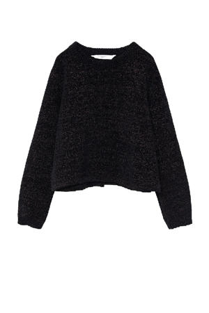trui met glitters zwart