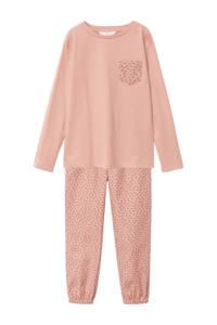Mango Kids pyjama met all over print roze, Roze