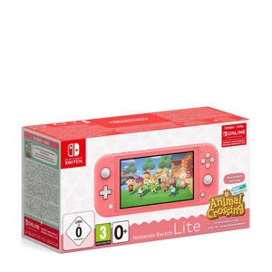 Switch Lite koraal + Animal Crossing + 3 maanden NSO