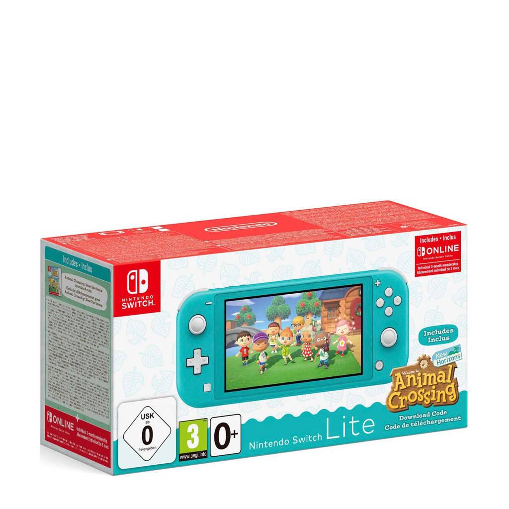 Nintendo Switch Lite turquoise + Animal Crossing + 3 maanden NSO, Turquoise
