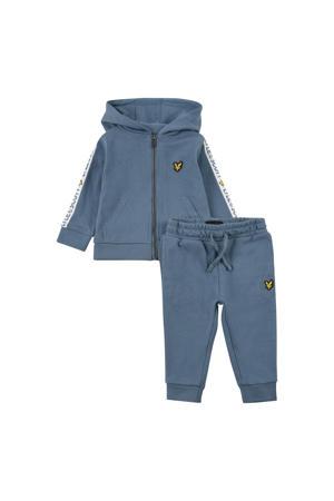 vest + joggingbroek grijsblauw