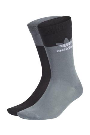 Adicolor sokken (set van 2) zwart/grijsblauw