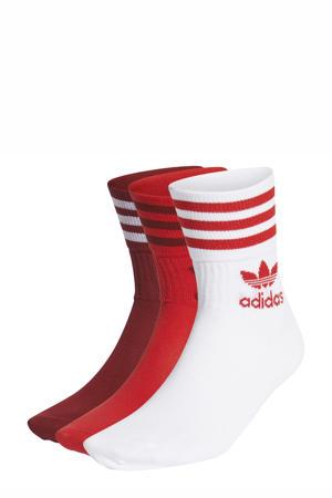 Adicolor sokken - set van 3 rood/wit