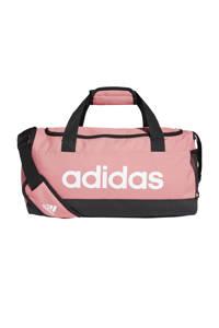 adidas Performance   sporttas Linear Duffel S lichtroze/zwart/wit, Lichtroze/zwart/wit