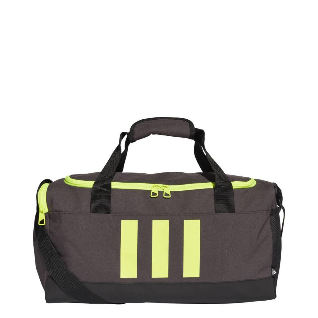 adidas Performance   sporttas 3S Duffle S grijs/geel, Grijs/zwart/geel