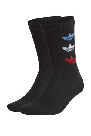 Adicolor sokken set van 2 zwart