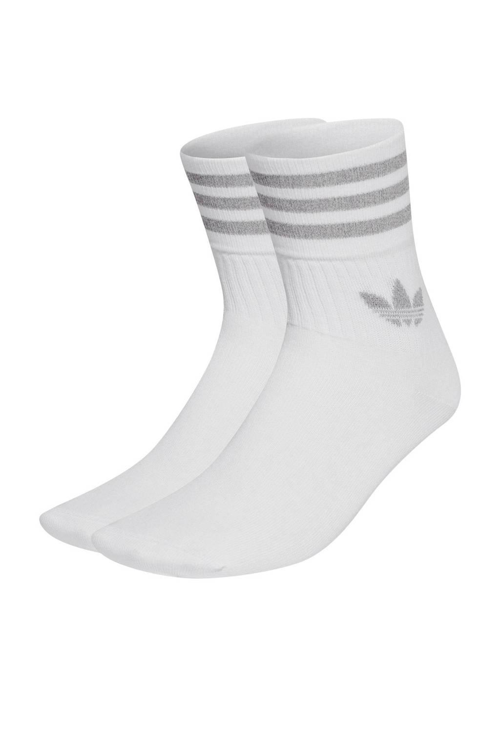 adidas Originals sokken - set van 2 wit/zilver, Wit/zilver