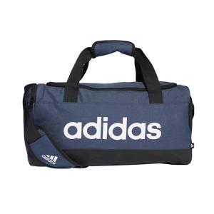 sporttas Linear Duffel S donkerblauw/zwart/wit