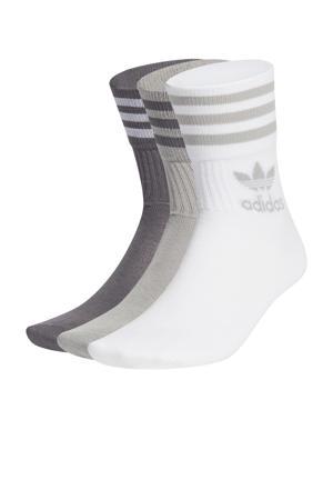 Adicolor sokken - set van 3 wit/grijs
