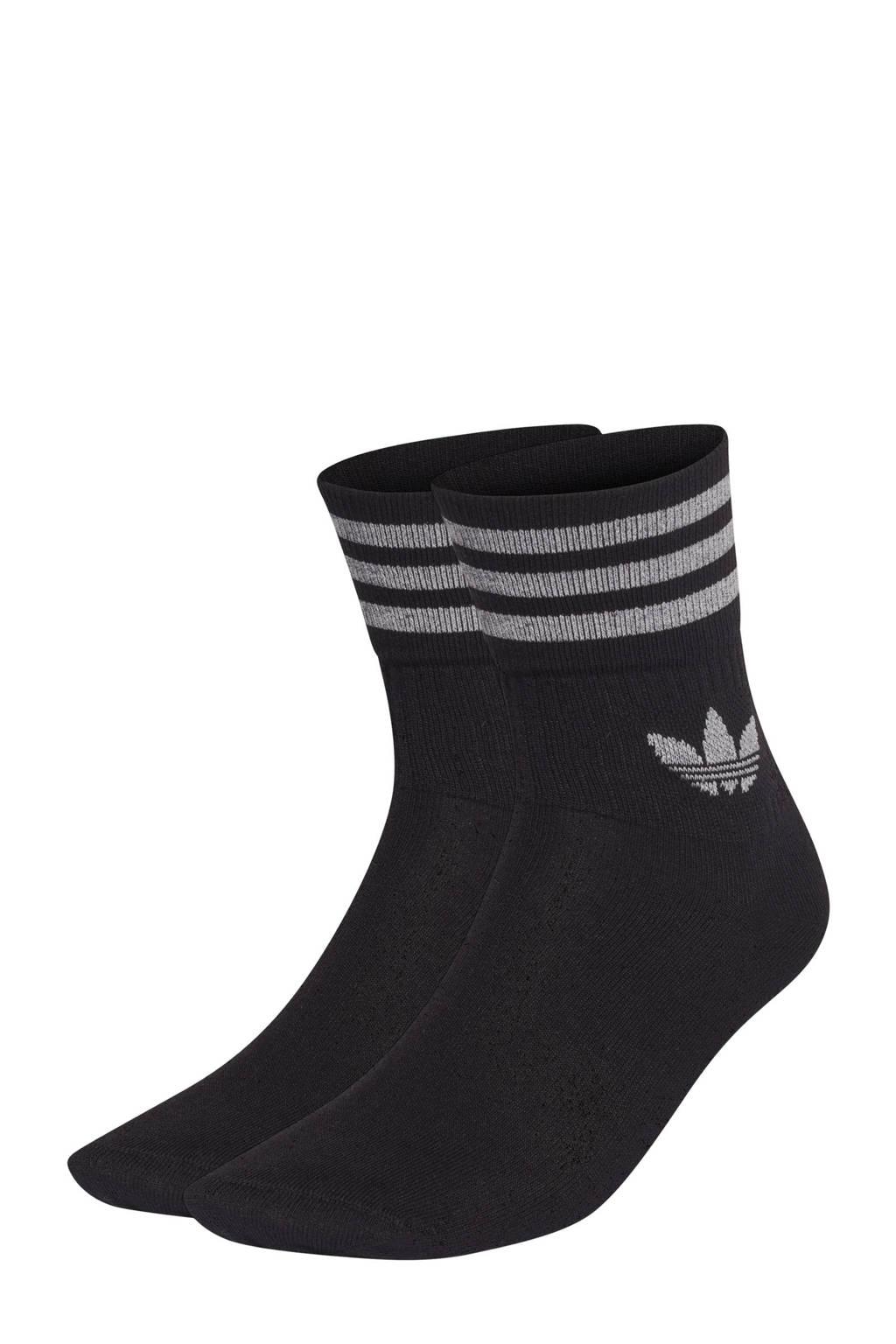 adidas Originals sokken - set van 2 zwart/zilver, Zwart/zilver