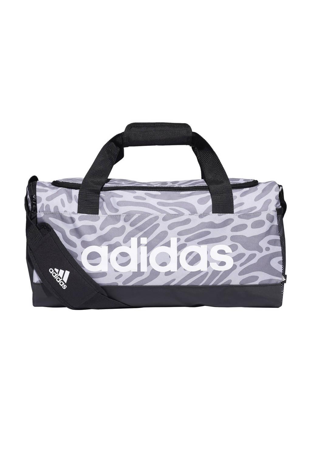adidas Performance   sporttas Duffel F zwart/wit/grijs, Zwart/wit