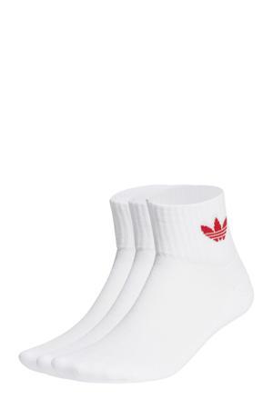 Adicolor sokken set van 3 wit