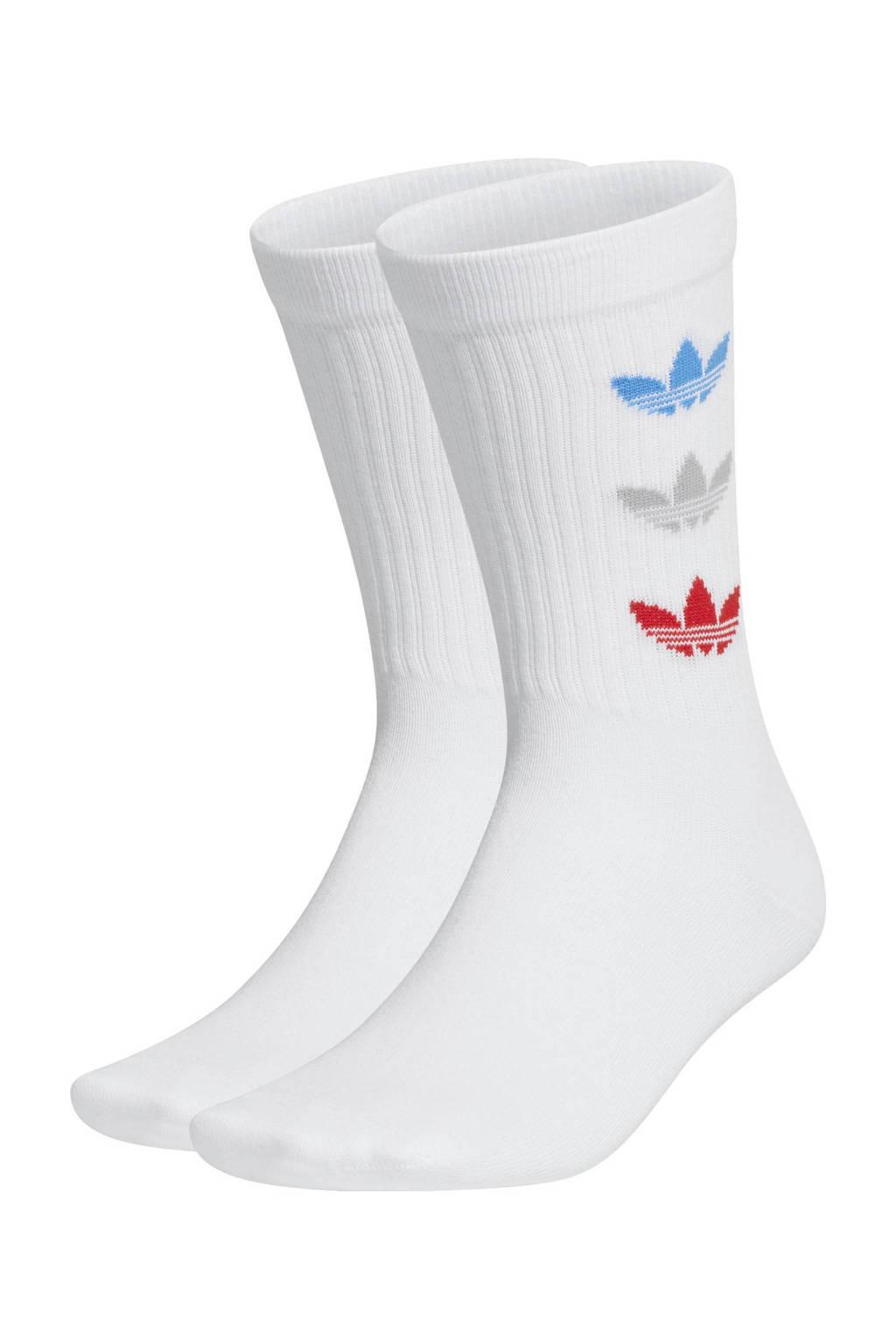 adidas Originals Adicolor sokken - set van 2 wit, Wit