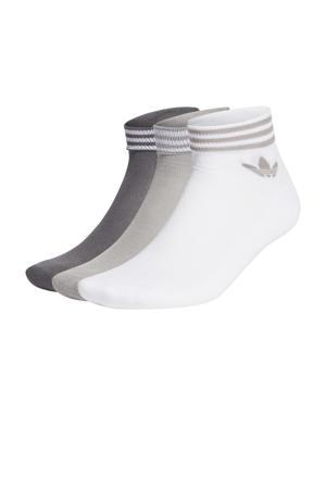 Adicolor sokken set van 3 wit/grijs