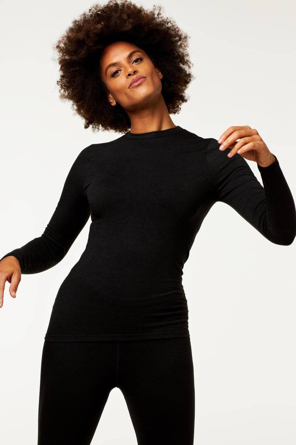 HEMA thermo T-shirt zwart, Zwart