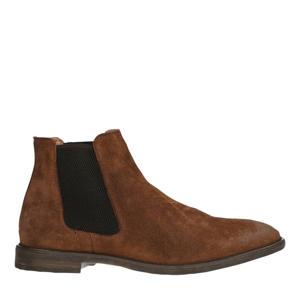 suède chelsea boots cognac
