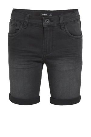 jeans bermuda NLMSHAUN met biologisch katoen zwart