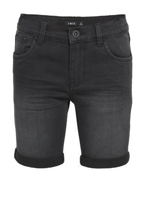 jeans bermuda Shaun met biologisch katoen zwart