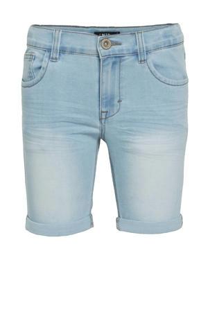 jeans bermuda Shaun met biologisch katoen light denim