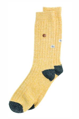 sokken Twisted Wool geel/zwart