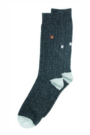 sokken Twistel Wool zwart/grijs