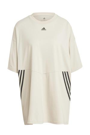 sport T-shirt beige/zwart