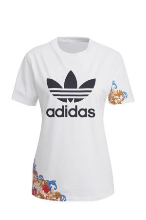 T-shirt wit/multi