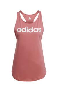adidas Performance sporttop roze/wit, Roze/wit