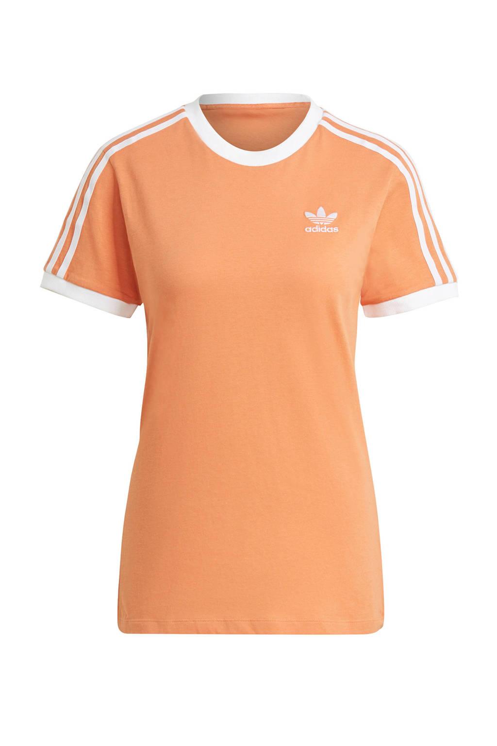 adidas Originals Adicolor T-shirt oranje/wit, Oranje/wit