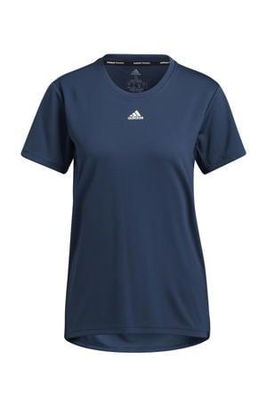 Necessi-Tee Designed4Training sport T-shirt donkerblauw/wit