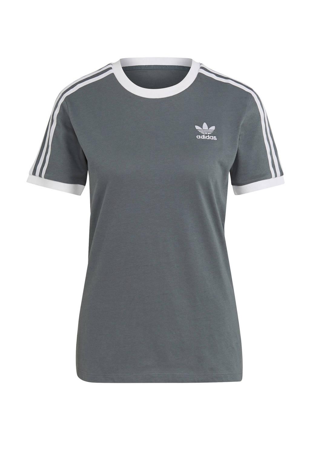 adidas Originals Adicolor T-shirt grijs/wit, Grijs/wit