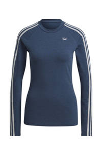 adidas Originals T-shirt donkerblauw/wit, Donkerblauw/wit