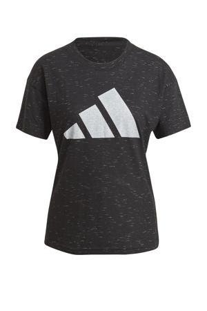 2.0 Sportwear sport T-shirt zwart melange