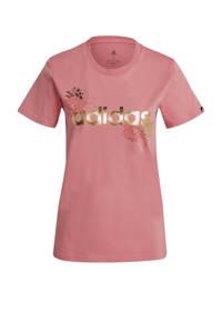 adidas Performance sport T-shirt roze, Roze